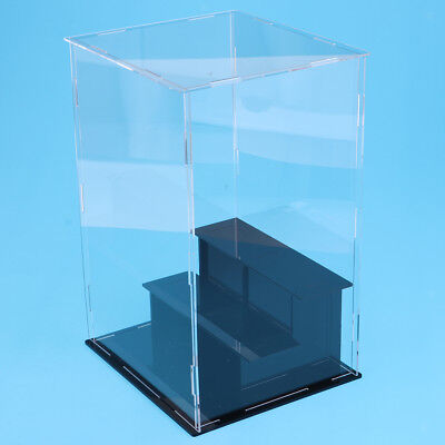3 Tiers Clear Acrylic Display Case Box 21x21x36cm for Model Toy Collectibles