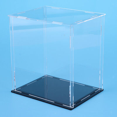 Clear Acrylic Display Case Box 20x20x30cm for Action Figure Toy Collectibles