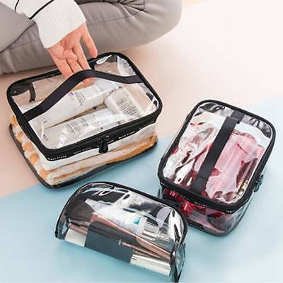 PVC Transparent Clear Cosmetic Travel Wash Makeup Bag Storage Pouch