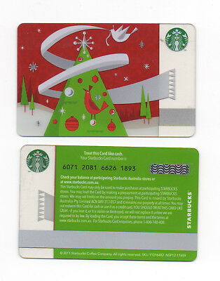 Starbucks Gift Card - Australia - Christmas Tree 2011