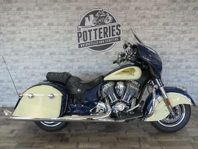 Indian Chieftain Two Tone Approved Used **Genuine 1871 miles and Exhausts**