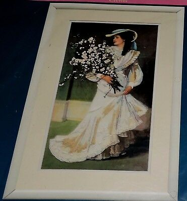 Dimensions Crewel Embroidery Kit Victorian Lady Springtime Elegance Long Stitch