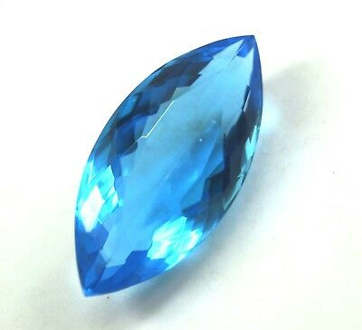 GGL Certified 48.75 Ct Transparent Blue Topaz Marquise Cut Gemstone Best Offer