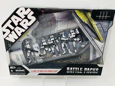Star Wars 30th Anniversary Collection Clone Attack On Coruscant Battle Pack NIB
