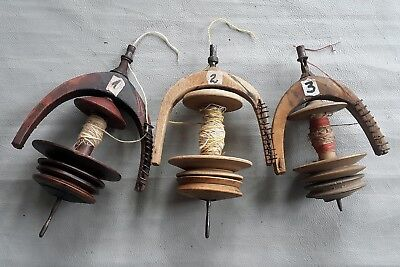 ANTIQUE SPINNING WHEEL'S SPOOL FLYER (Choose from 3 different variants)