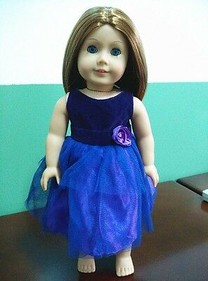 American Girl Our Generation Journey Girls 18 inch Doll Clothes Purple Dress