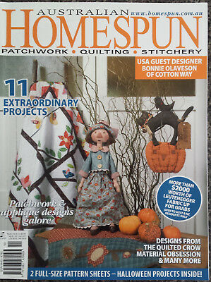 Australian Homespun Magazine No.53 Vol.8.10 Patchwork, Quilting, Stitchery