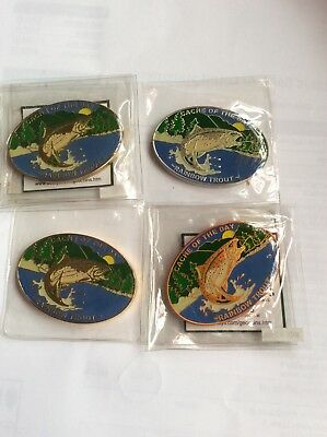 Cache of the Day - Rainbow Trout Geocoins Set of 4 Coins