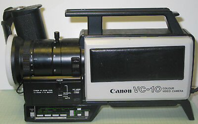 Vintage Canon VC-10 camcorder colour camera for spares or repairs