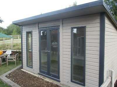 14x8 19mm Tanalised Apex insulated double glazed studio/office/gardenroom/shed