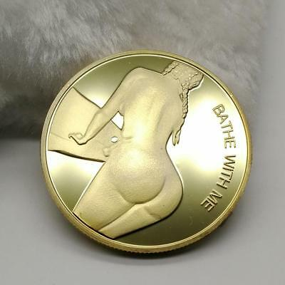Sexy Girl Bathe With Me Get Your Pants Off Adult Novelty Coin Man Collectible