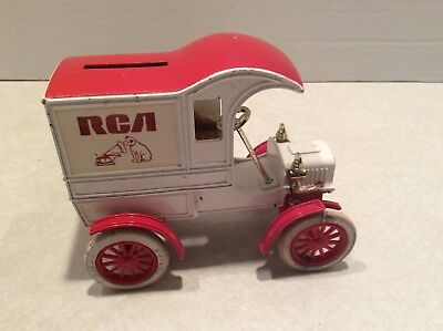 Vintage RCA metal truck coin bank