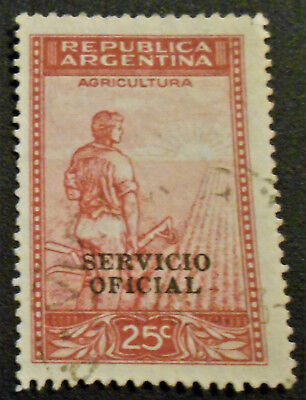 Argentina - Argentine - 1944 25 ¢ Agriculture oveprinted official used (22) -