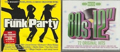 "2 cds (80s 12"" 72 original hits and the ultimate funk party )"