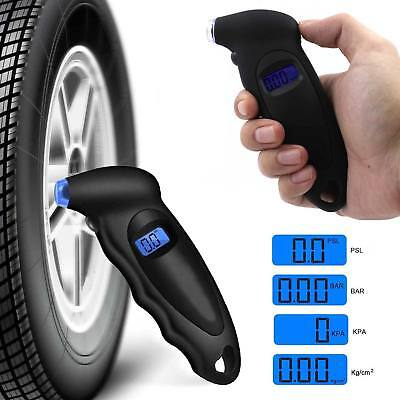 Air Pressure Gauge Tester Tool for Auto Motorcycle Car Van Bike LCD Digital Tyre