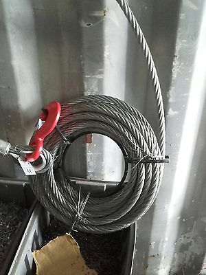 New Tirfor Style Winch Cable & Hook Heavy Duty cable Wire Rope