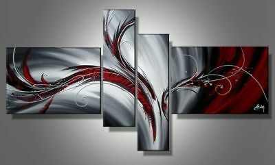 LMOP50 4pcs 100% hand paint Modern Abstract Wall decor Art Oil Painting Canvas