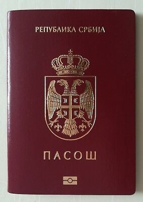 Passport SERBIA Biometric NO HOLES Perfect Condition