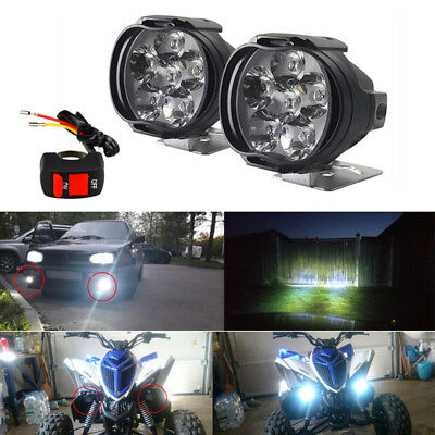 2x 12V Dirt Bike ATV Quad Motorcycle Front Headlight Fog Spot LED Lamp 10W