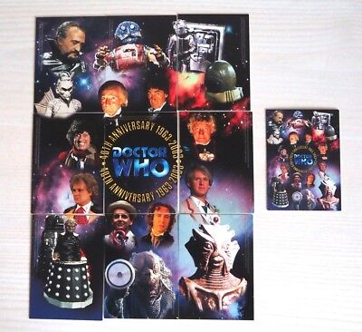 Set of 10 Doctor Who 40th Anniversary Promo Trading Cards Strictly Ink PR1 - 10