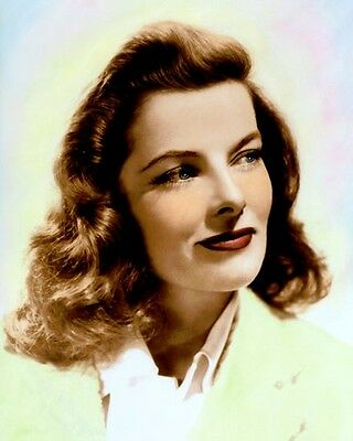 "KATHARINE HEPBURN THE PHLADELPHIA STORY 1940 8x10"" HAND COLOR TINTED PHOTOGRAPH"