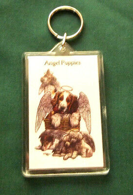 Angel Puppies Key Chain