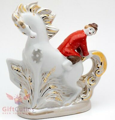 Dulevo Porcelain Fairy tale Humpbacked Horse Figurine hand made painted souvenir