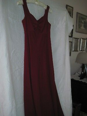 Vintage 1970's Burgundy Gown Sleeveless w/Long Sleeve Jacket