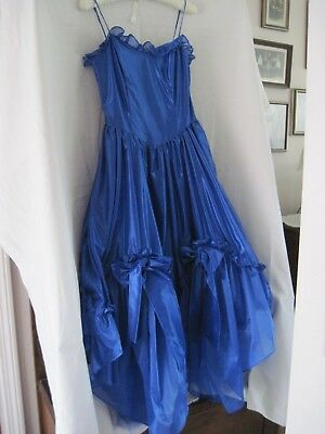VINTAGE  Steppin' Out BLUE Glam/Party Dress Spaghetti Strap Size 9/10