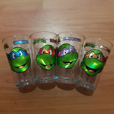 "TMNT Teenage Mutant Ninja Turtles 16oz 6"" Cups Tumblers Beer Mugs Complete Set"