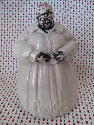 Vintage McCOY MAMMY Aunt Jemima COOKIE JAR 1940's Black Americana Cold Painted