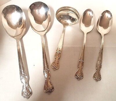 Rogers Magnolia Silverplate - 5 Serving Pieces