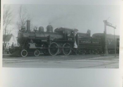 Railroad Photo Canadian Pacific Railways Steam 4-4-0 # 29 St Lin, Quebec 1960