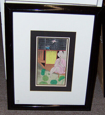 Framed Drawing on Rice Paper #1