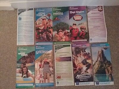 7  Walt Disney World/universal Park Maps