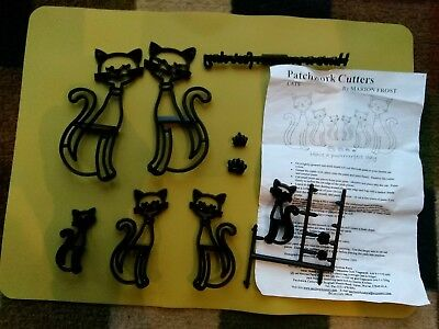 """Patchwork  Cutters """"Cats"""" Sugarcraft cutters for cake decorating"""