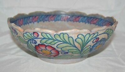 Art Deco Crown Ducal Charlotte Rhead Large Tubelined 'Palermo' 5803 Fruit Bowl
