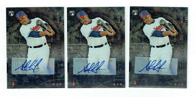 3 Jesus Aguilar Signed 2014 Bowman Sterling Rookie Baseball Cards RC Auto