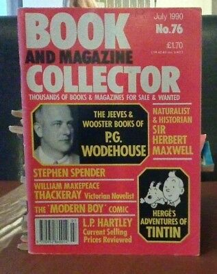 Book and Magazine Collector #76 July 90 P G Woodhouse