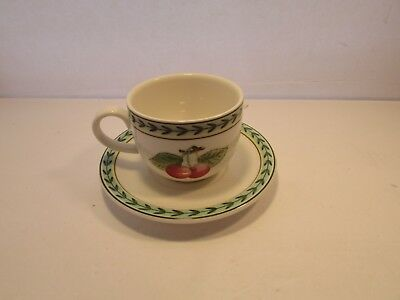 Villeroy & Boch FRENCH GARDEN FLEURENCE Cup And Saucer FRUIT Mint