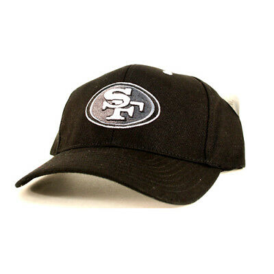 10b28cbe6 SAN FRANCISCO 49ERS Baseball Cap Hat Black Tonal Style Flex Fit Adult Size  - $14.99 | PicClick