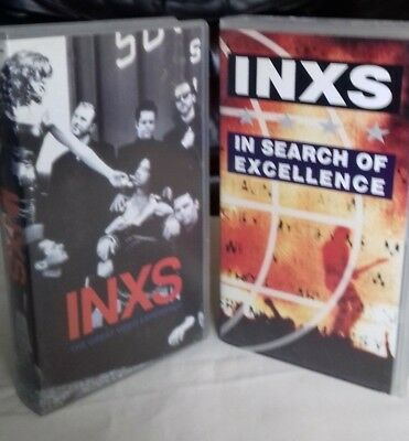 INXS Michael Hutchence VHS Tape Bundle x2 In Search of Excellence & Experience
