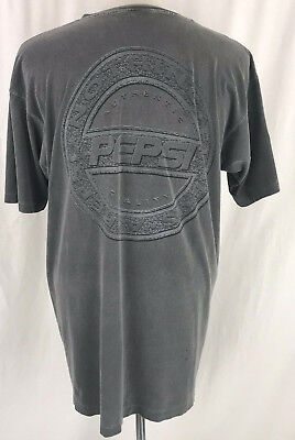Vtg Authentic Pepsi Cola Brand Nothing Else is a Pepsi T-Shirt L/XL Made in USA