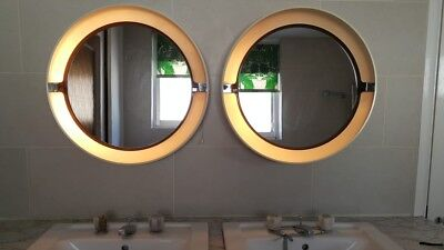 ANTIQUE PAIR OF 1960s *DUTCH* ILLUMINATED ROUND MIRROR RRP £360!!!!!