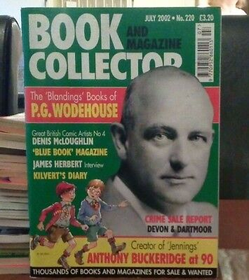 Book and Magazine Collector #220 July 02  P G Woodhouse James Herbert