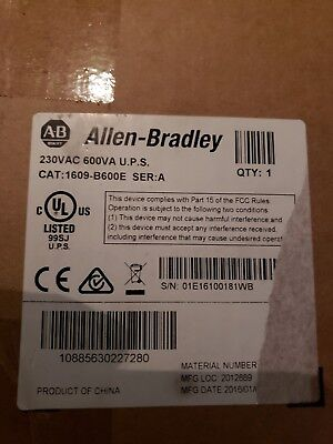Allen Bradley 1609-B600E UPS Ser A 230VAC 600VA NEW IN SEALED BOX