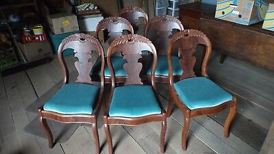 6 Vintage Early Victorian chairs - a set