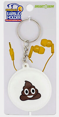 "Emoticon Earbud & Cable 2"" Holder 4.125"" Key Chain Lot of 120 Ship Free"