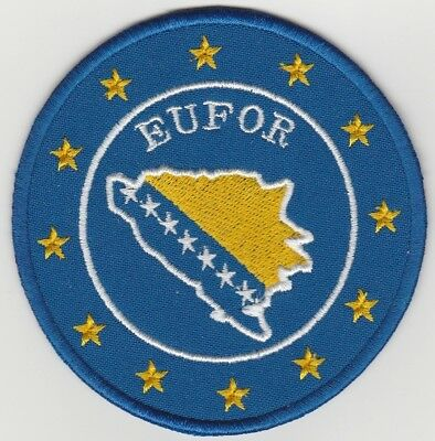 EUFOR. EU FORCES BOSNIA AND HERZEGOVINA PATCH. New. Unused. FREE SHIPPING