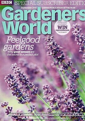 BBC Gardeners World September 2017  ~ Special Subscriber's Edition
